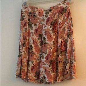 Floral John Galt high waisted skirt